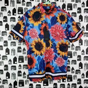 Zara | NWT Men's Casual Button Down Graphic Shirt